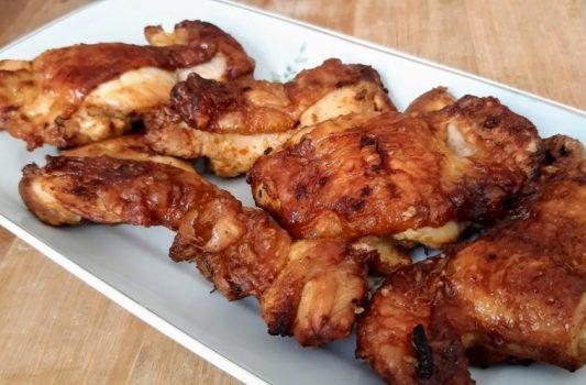 Coxa e sobrecoxa de frango na AirFryer